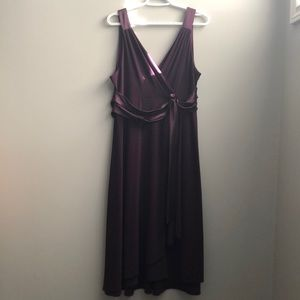Plum a-line dress